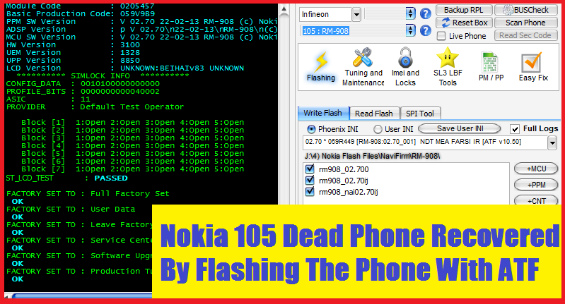 Nokia 105 RM-908 Dead Solution 2018 - All Working Methods Here