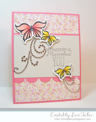 Wonderful Marvelous You card-designed by Lori Tecler/Inking Aloud-stamps from Verve Stamps