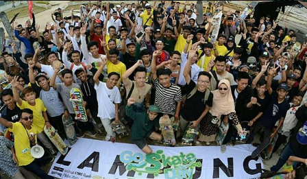 Para Skateboarder Lampung Ramaikan Skateboarding Day