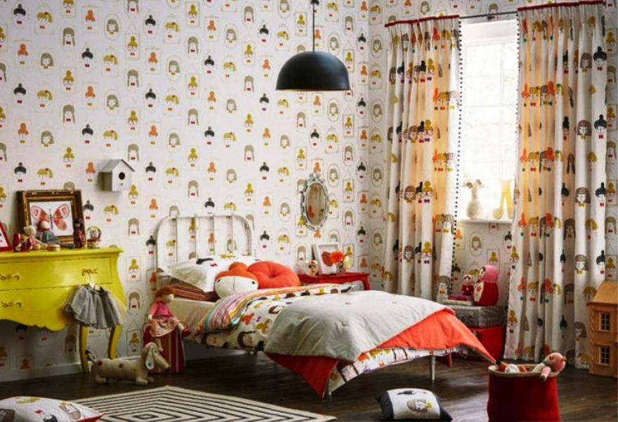 Motif Wallpaper Dinding Kamar Anak Perempuan Cantik