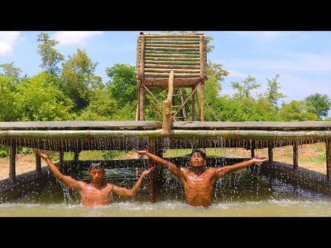 Construir uma piscina com ducha com as próprias mãos