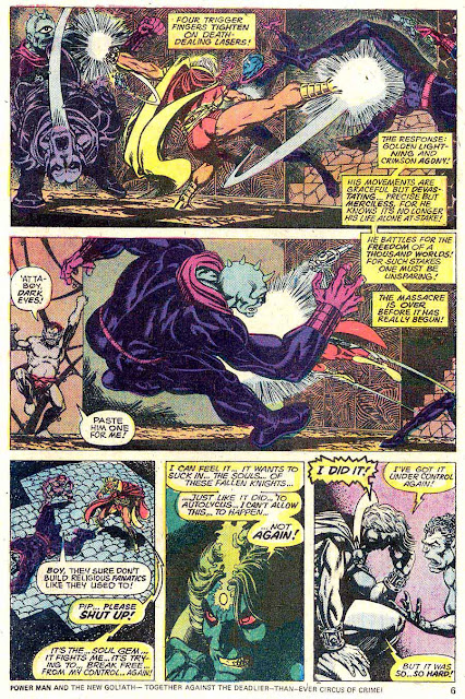 Strange Tales v1 #180 marvel warlock comic book page art by Jim Starlin