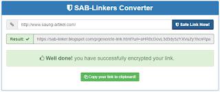 Cara Membuat Safelink Di Blog Versi Saung Artikel Bangsa