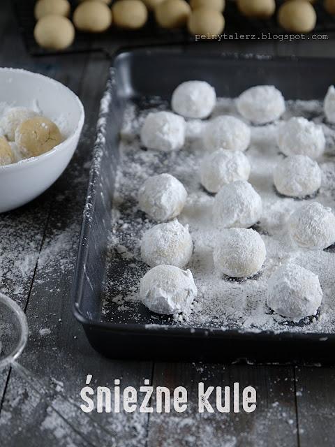 ciasteczka zimowe śnieżne kule