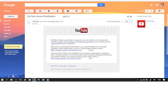 Cara Memulihkan Akun Youtube Yang Di Tangguhkan