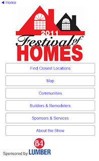 BAMP Festival of Homes mobile site screenshot