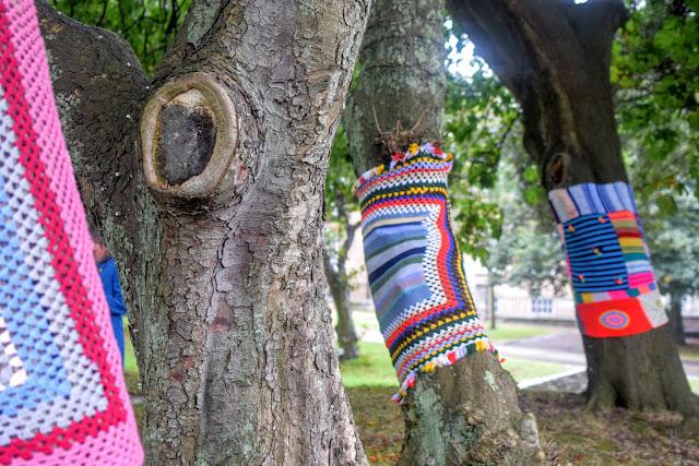 #RoaldDahl100, yarn bomb, Haverfordwest Yarn Bombers, Milford Haven, Pembrokeshire, Roald Dahl,