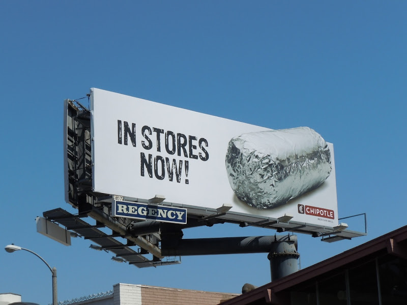 Chipotle silver foil billboard