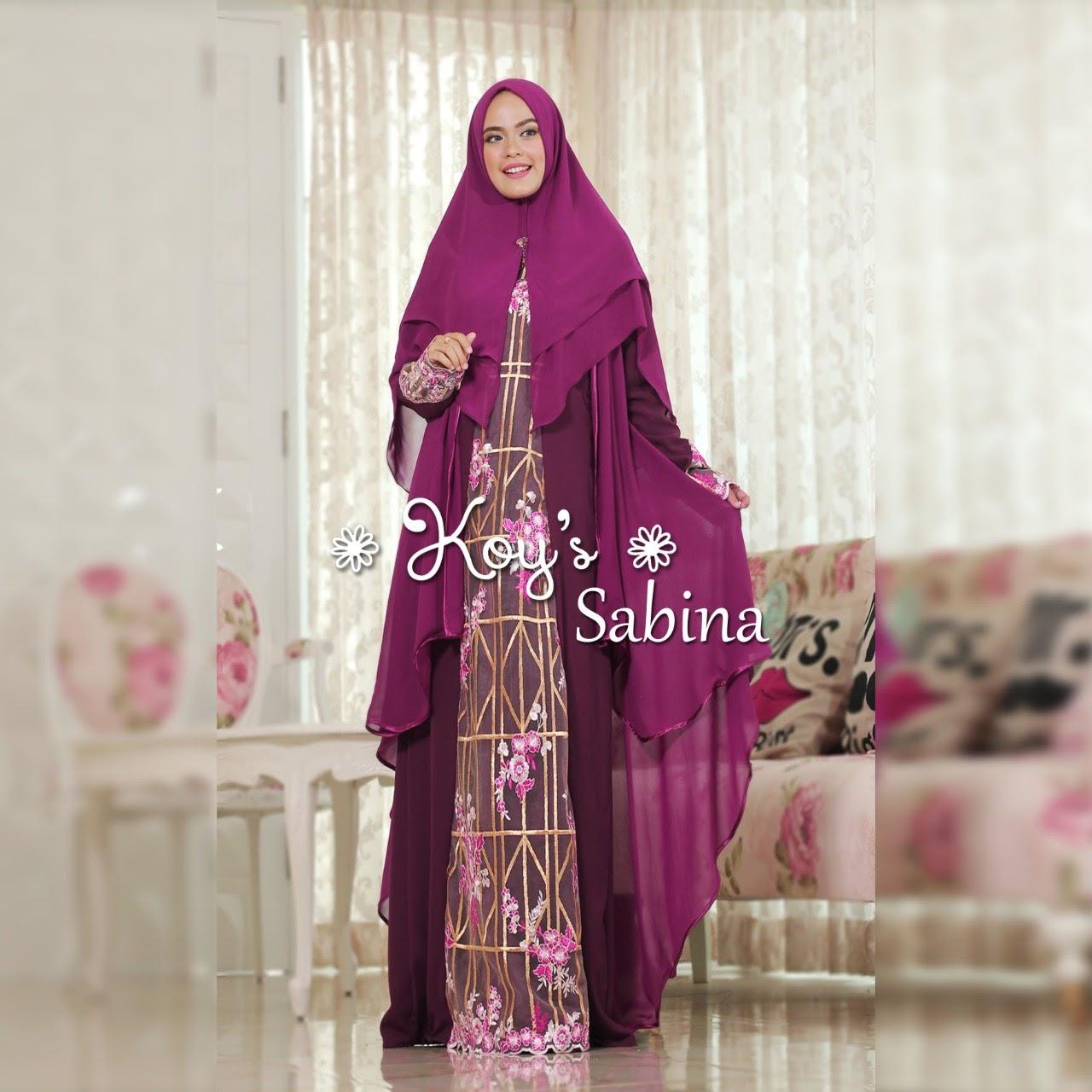 Sabina Mom Kid Syari By Koys Melody Fashion Kaos Wanita Purple Sella Top