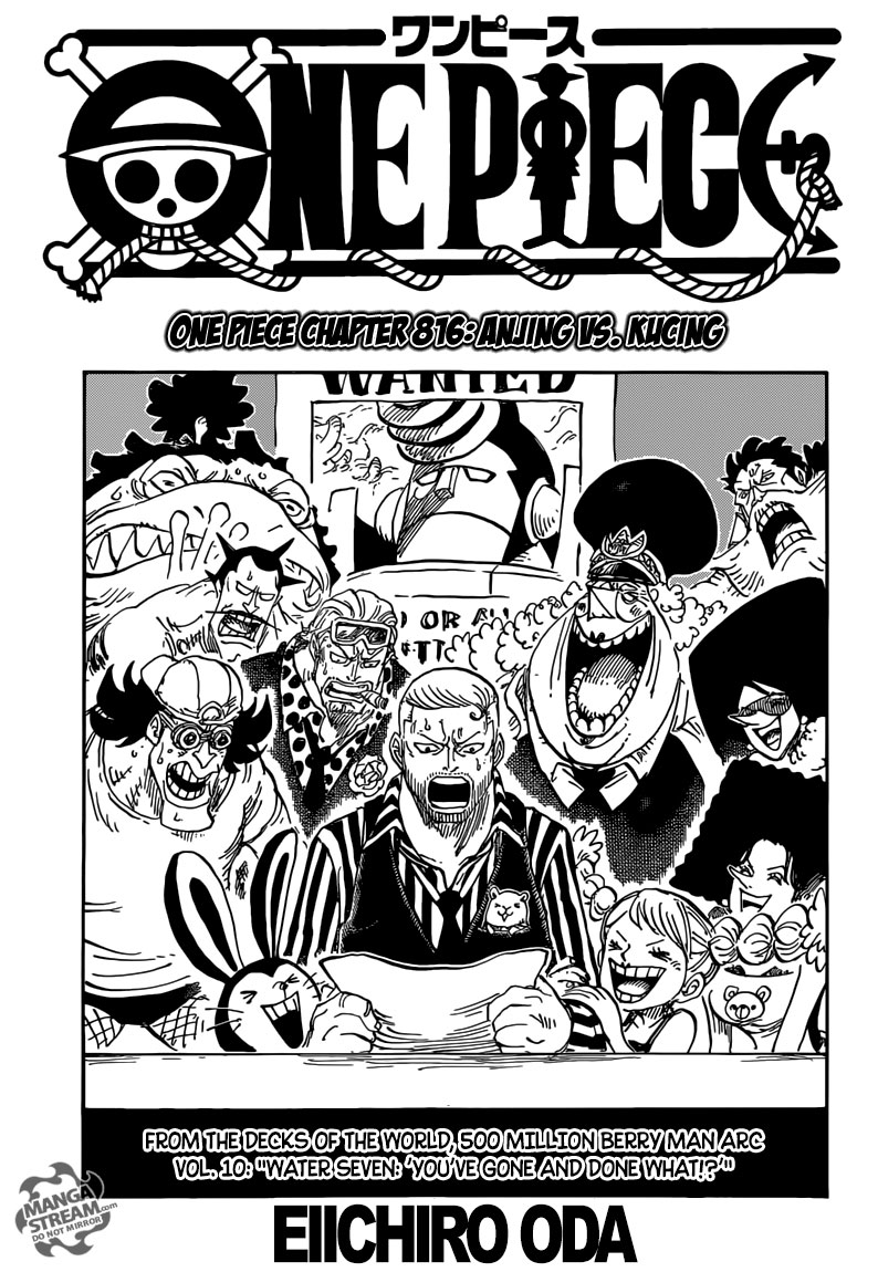 One Piece chapter 816 - Anjing vs Kucing   Good Gembel ...