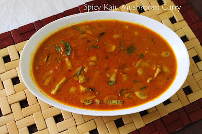 mushroom curry kaju mushroom curry mushroom gravy mushroom stir fried gravy side dish for chapati vegetable side dish curry recipe