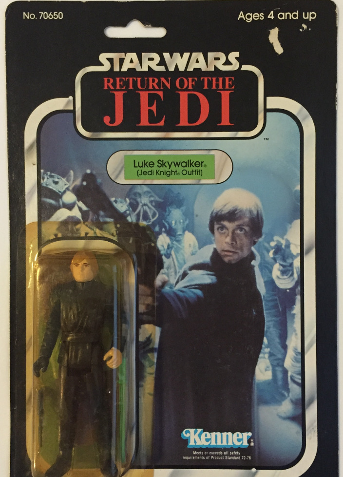 Luke Skywalker Jedi Knight Outfit, Kenner, 1983, Vintage Star Wars, 77 Back, Carded, MOC