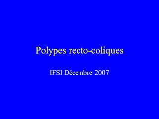 Polypes recto-coliques .pdf