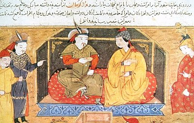 Hulagu Khan and his wife Dokuz