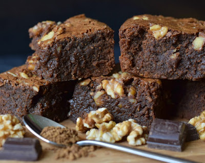 Coffee & Walnut Chocolate Brownie recipe great for using up one egg yolk