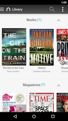 تطبيق NOOK للكتب والمجلات