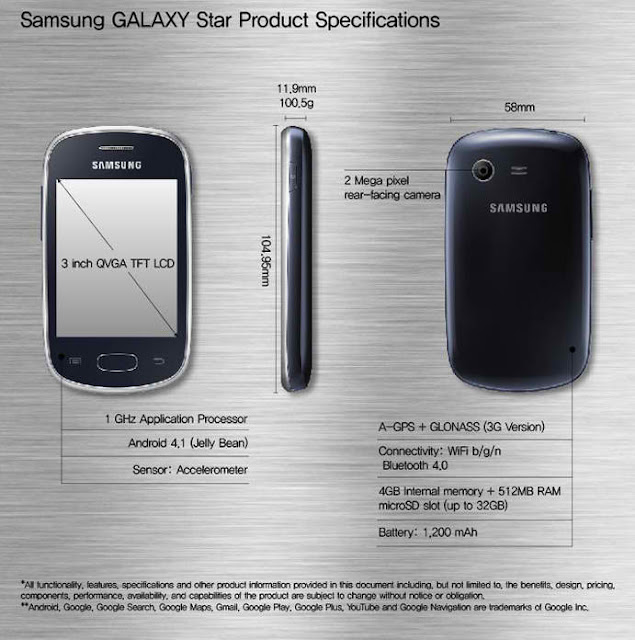 Samsung Galaxy Star mobile specifications