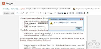 Timer Shutdown Otomatis - indra92