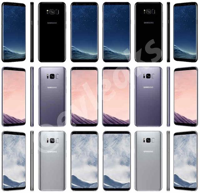 Galaxy S8: Opsi 3 Warna dengan Sensor Sidik Jari Terletak Di Sebelah Kamera