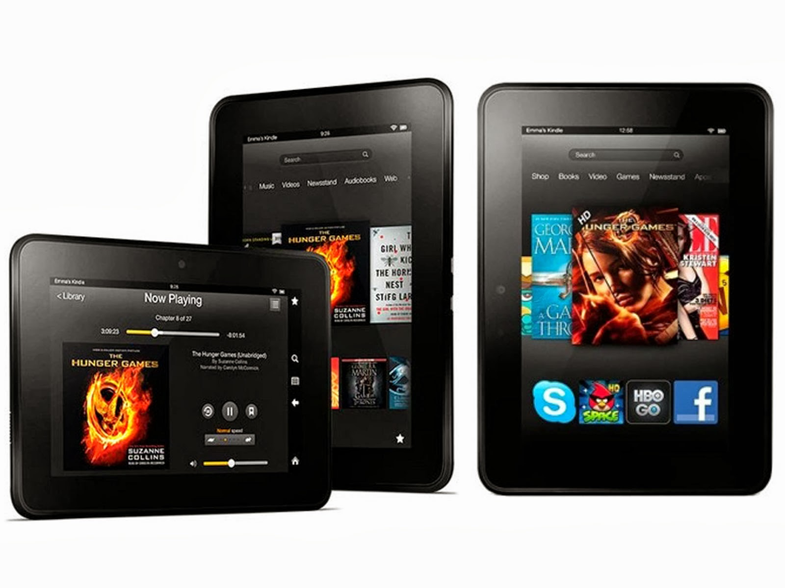 Amazon unveiled its Kindle Fire tablet HDX available in two formats. The first has a 7-inch display that delivers a resolution of 1920 x 1200 pixels (323 ppi). The second is equipped with a screen of 8.9 inches with a resolution of 2560 x 1600 pixels (339 ppi). Both are suitable for reading in the sun with their brightest screens and a dynamic contrast control that increases the brightness of the shadow areas of images