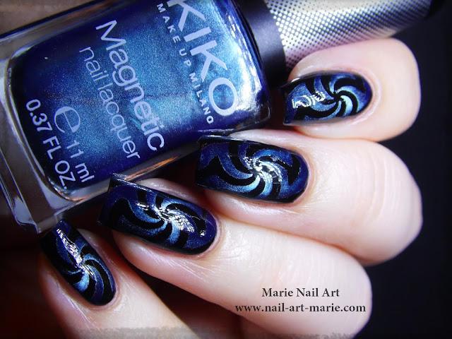 vidéo nail art magnétique