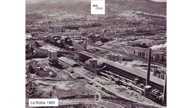 Fotos antiguas de La Robla  León  España  Cementos + Térmica + Hullero Vasco Leonesa