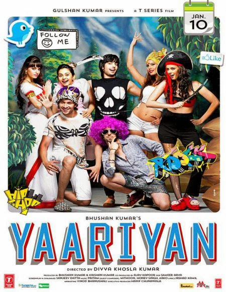 Yaariyan 2014 Hindi 480p BRRip 400MB ESub