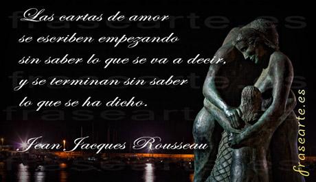 Frases de amor - Jean Jacques Rousseau
