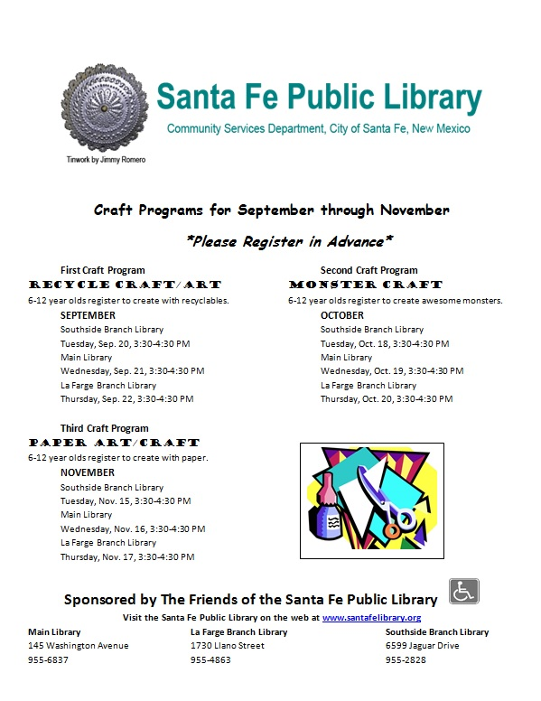 Library Craft Programs For Kids