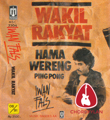 Lirik dan Chord Kunci Gitar Mata Indah Bola Pingpong - Iwan Fals