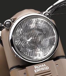Royal Enfield Classic 500 Desert Storm front headlight