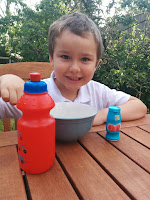 Breakfast in the Garden with Big Boy