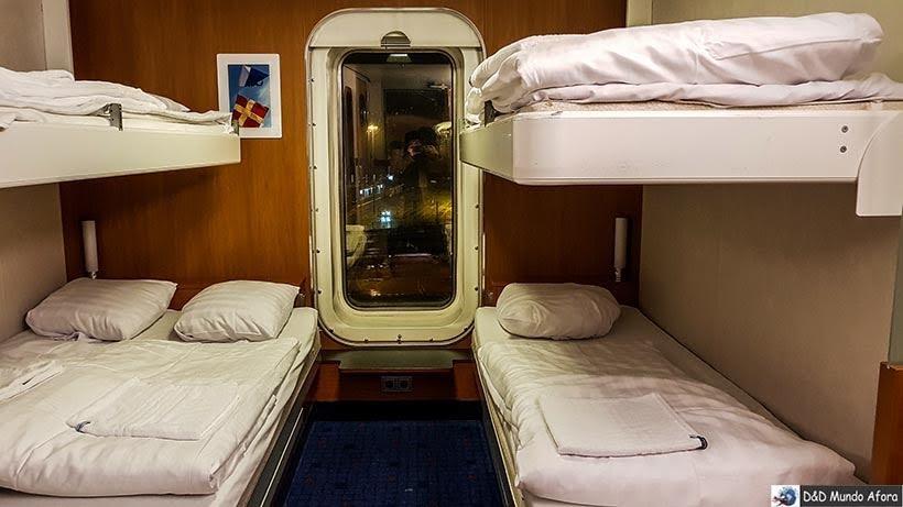 Cabine do ferry da Stena Line - De Londres a Amsterdam: como fazer o trajeto de navio