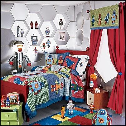 dormitorio niño tema universo