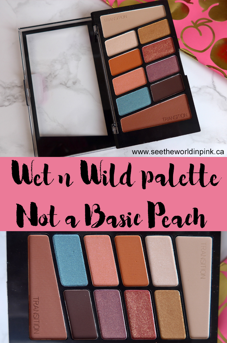 Wet n Wild Not A Basic Peach Color Icon Eyeshadow 10 Pan Palette - Swatches, Makeup Look and Review!
