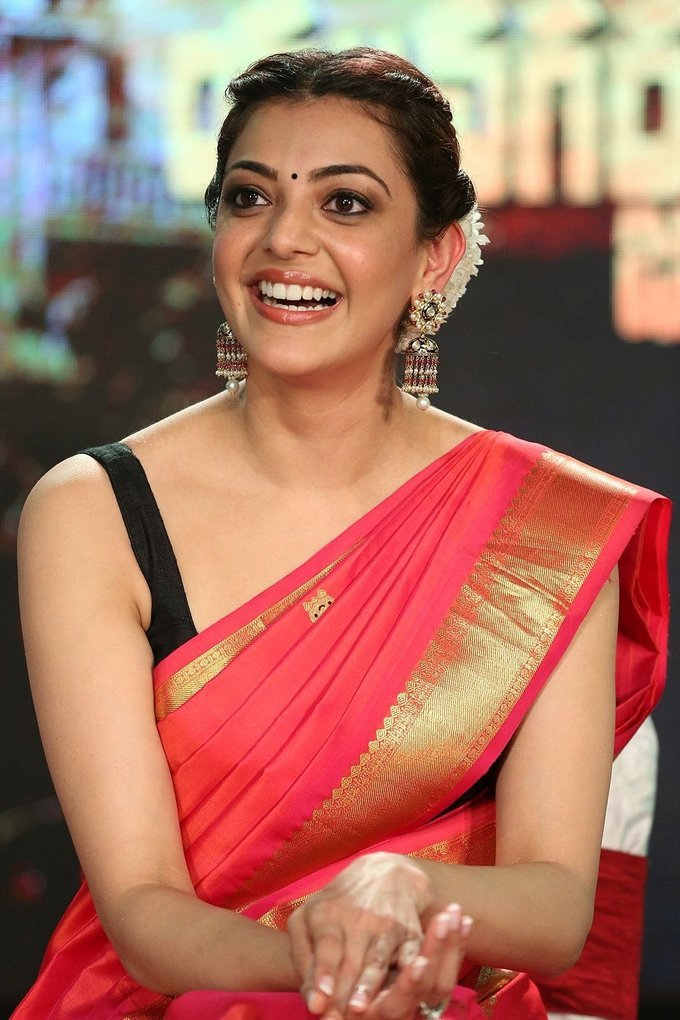 Kajal Aggarwal at Nene Raju Nene Mantri Audio Launch Function Photos
