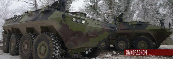 Сербська армія прийняла на озброєння нову колісну бронемашину Лазар 3