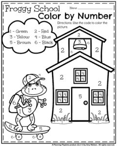 back to school coloring pages for preschool | A FUN PLACE TO LEARN ENGLISH IN PRESCHOOL