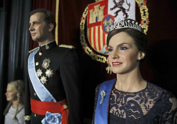 Queen Letizia, King Felipe and Princess Leonor the new presentation of a new wax sculpture of Queen Letizia at Wax Museum in Madrid