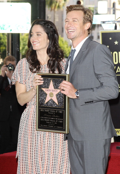 Robin Tunney Attends Simon Bakers Ceremony At The Hollywood Walk Of Fame