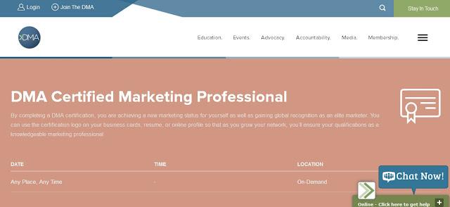 Consigue los certificados oficiales en Marketing Digital de Direct Marketing Association