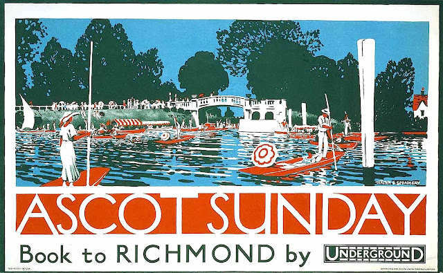 a Walter Spradbery poster of Ascot Sunday at Richmond