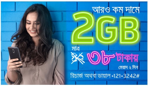 Grameenphone 2GB 38Tk Internet Offer Details