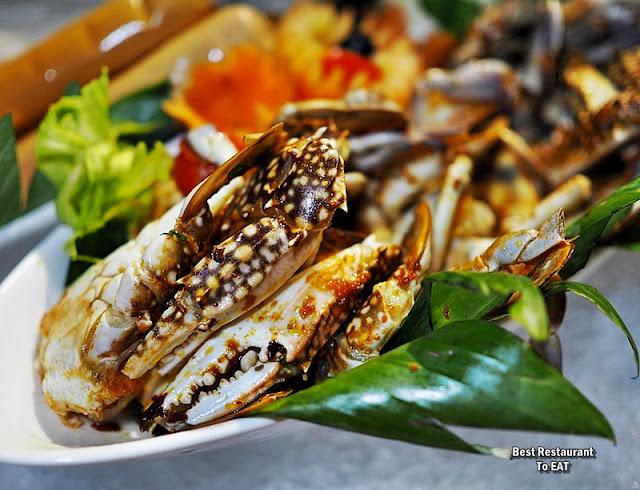 BBQ BUFFET Seafood  Menu - Grilled Butter Garlic Blue Crab