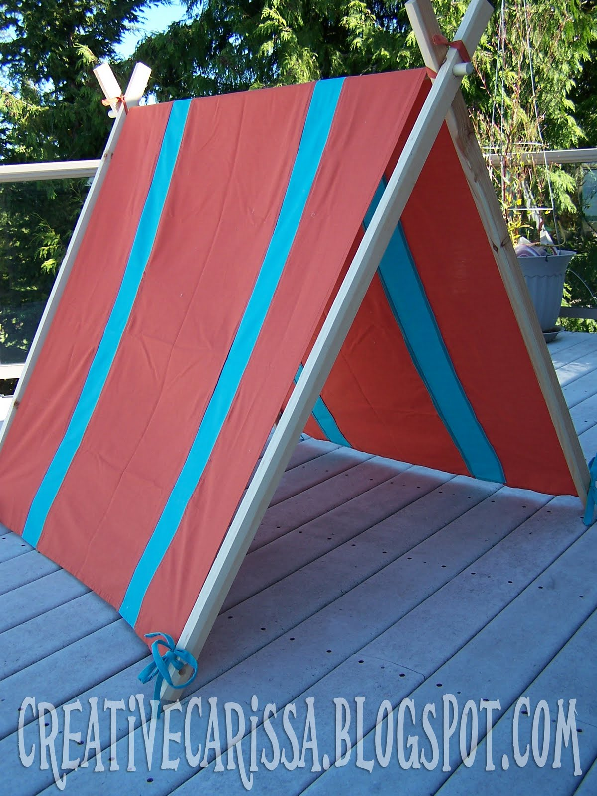 I wanted it to be super portable though so I could take it to the beach park or grandparents house. I tried a couple different ways to make them and ended ... & My DIY Kid Play Tent - Creative Green Living