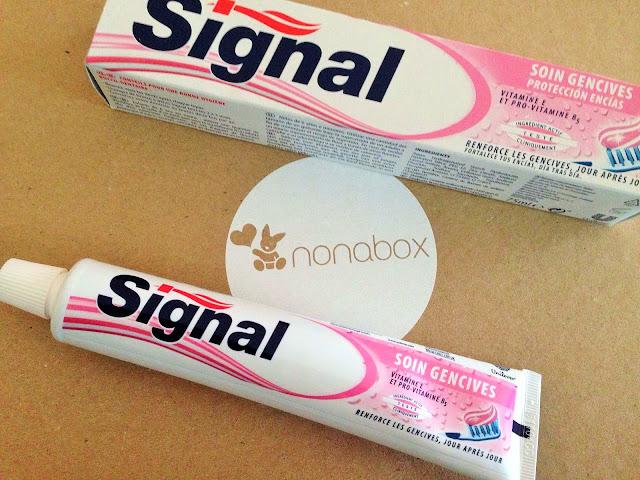 pasta-dentífrica-signal-encias-caja-nonabox-productos-bebe-maternidad