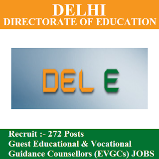 Directorate of Education, Govt. of NCT of Delhi, Delhi Education Department, Delhi, Counselor, Guest Teacher, Post Graduation, freejobalert, Sarkari Naukri, Latest Jobs, delhi education dept. logo