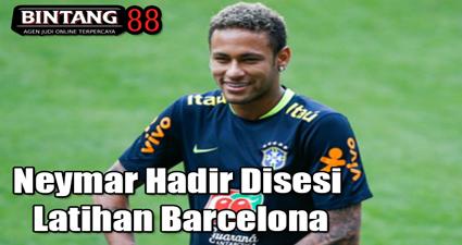 Neymar Hadir Disesi Latihan Barcelona