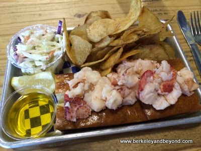 lobster roll at New England Lobster Market & Eatery in Burlingame, California