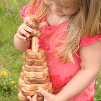 LotesToys Wooden Stacking Flower (PY03)